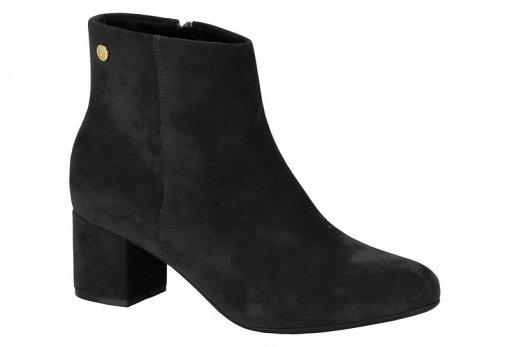 2ed130449 Bota Feminina Vizzano Ankle Boot Nobuck Preto 3067100 3067100 ...