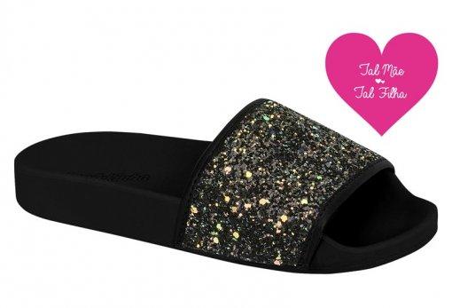 Chinelo Infantil Feminino Molekinha Slide Glitter 2311105