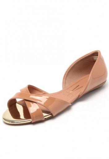e549a7f20c Sandalia rasteira feminina vizzano tiras verniz nude a abacaec jpg 352x510 Vizzano  sandalia rasteira feminina