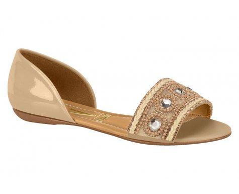 19673bc676 Sandalia rasteira feminina vizzano verniz bege abe jpg 475x385 Vizzano  sandalia rasteira feminina