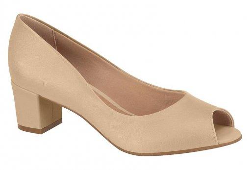 Sapato Scarpin Feminino Beira Rio Salto Grosso Bege 4777300