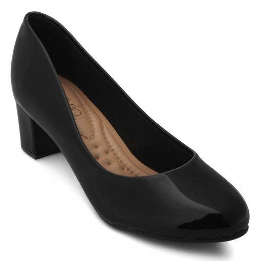 Sapato Scarpin Feminino Beira Rio Verniz Preto 4777309