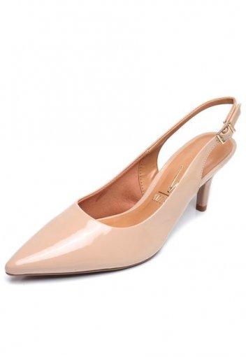 dde108c40f Sapato Scarpin Feminino Vizzano Chanel Verniz Bege 1185100 1185100 ...