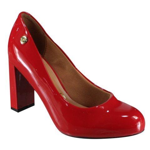 733ff0ec04 Sapato Scarpin Feminino Vizzano Salto Grosso Verniz 1260100 1260100 ...