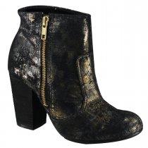 Imagem - Bota Feminina Ankle Boot Cravo e Canela Preto 144301-1 - 633474