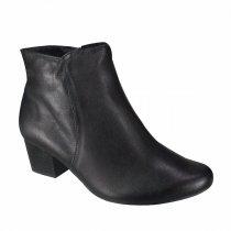 Imagem - Bota Feminina Usaflex Ankle Boot Couro Legítimo Preta Q6621 - 654072