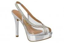 Imagem - Sapato Feminino Peep Toe Vizzano Metal Prata Strass 1830419 - 3897593