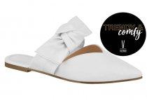 Imagem - Sapato Mule Feminino Vizzano Napa Branco Laço 1269119 - 31000708