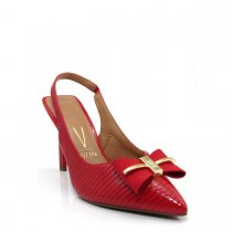 Imagem - Sapato Scarpin Feminino Vizzano Chanel Vermelho 1303101 - 1000384