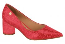 Imagem - Sapato Scarpin Feminino Vizzano Salto Baixo Vermelho 1279100 - 3897597