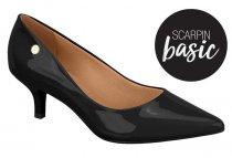 Imagem - Sapato Scarpin Feminino Vizzano Salto Baixo Preto 1334100 - 31001266