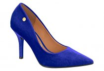 Imagem - Sapato Scarpin Feminino Vizzano Veludo Azul 1184101 - 403022