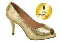 Imagem - Sapato Scarpin Peep Toe Feminino Vizzano Dourado 1781607 - 571732