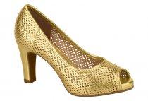 Imagem - Sapato Scarpin PeepToe Feminino Vizzano 1840110 Vazado Metal - 426880