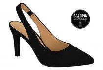 Imagem - Sapato Scarpin Salto Alto Fino Nobuck Preto Vizzano 1321101 - 31000557