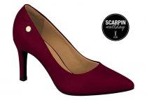 Imagem - Sapato Scarpin Salto Alto Vinho Feminino Vizzano 1321100 - 31000556