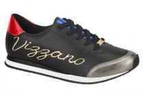 Imagem - Tênis Casual Feminino Vizzano Jogging Preto Metal 1300102 - 31000394