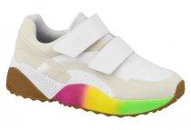 Imagem - Tênis Feminino Sneaker Vizzano Branco Colorido 1296303 - 31001335