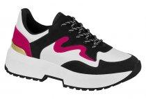Imagem - Tênis Feminino Vizzano Chunky Sneaker Branco/Preto 1308102 - 3897606