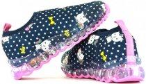 Imagem - Tênis Infantil Feminino Bibi Roller Led Lycra Naval 1079050 - 31001202