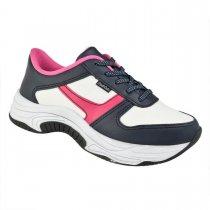 Imagem - Tênis Infantil Sneaker Robusto Pink Cats Napa Marinho V0251 - 331000755