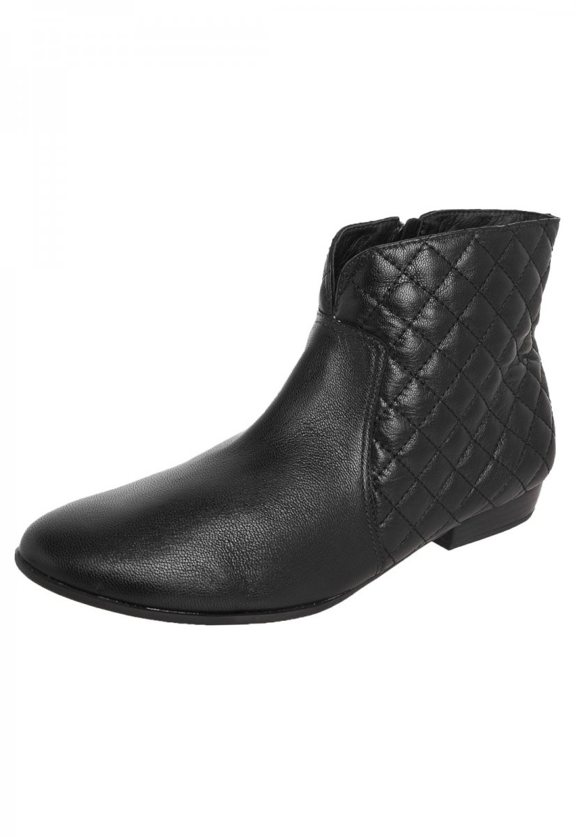 c47438d59f Bota Feminina Usaflex Ankle Boot Couro Legítimo Preta S5908 S5908 ...