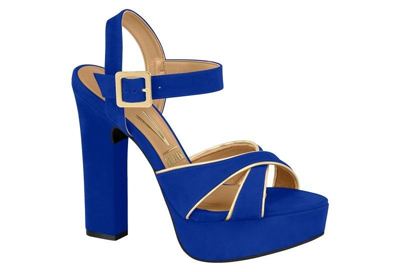 4c2b016d3 Sandália Feminina Vizzano Salto Grosso Azul 6305114 6305114 - Azul ...