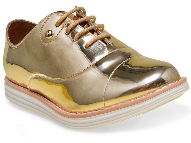 2be7182405 Sapato Feminino Oxford Vizzano Dourado 1231100 1231100 - Ouro ...