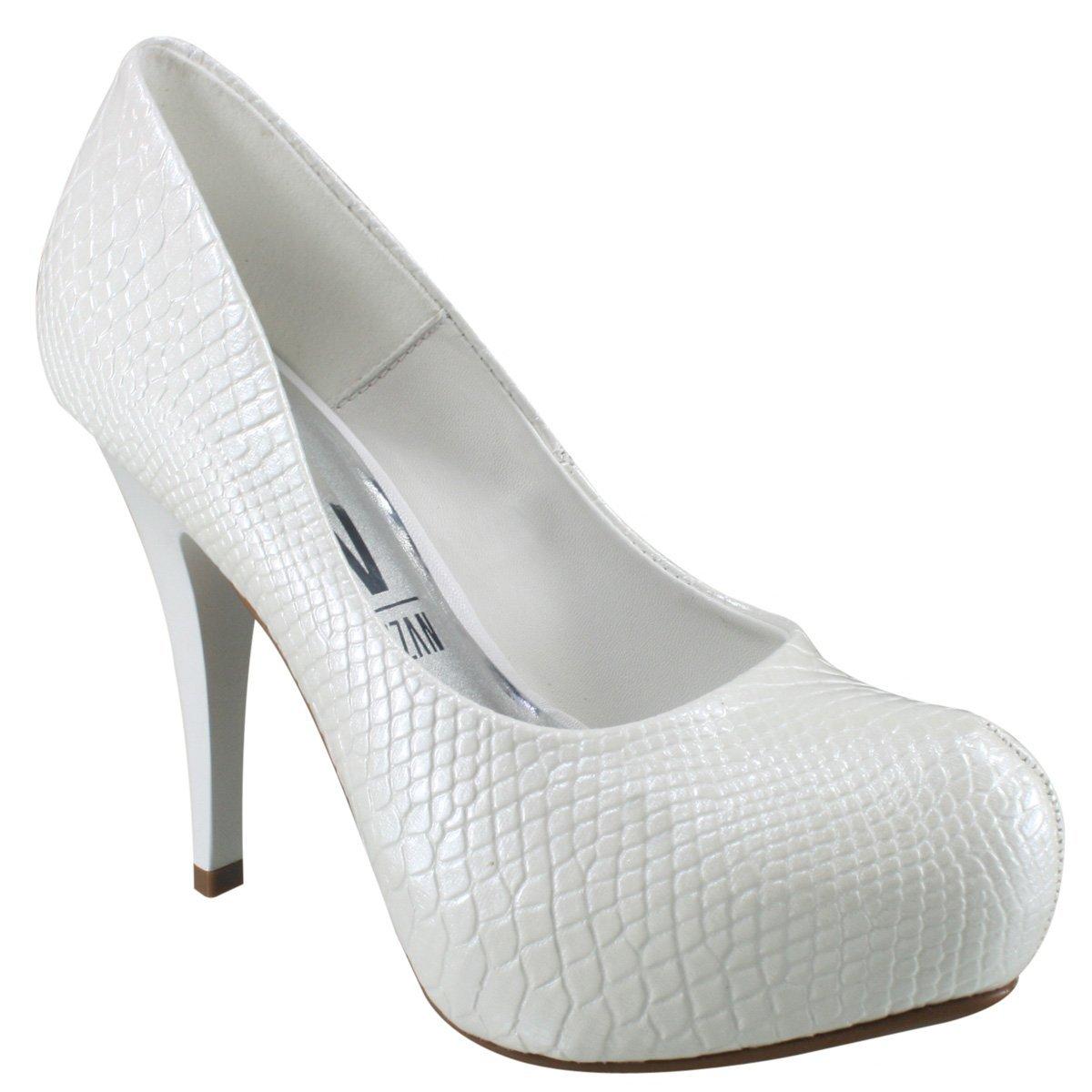 8f4c02abb Sapato Feminino Scarpin Noivas Vizzano Cobra Branco 1143809 1143809 ...