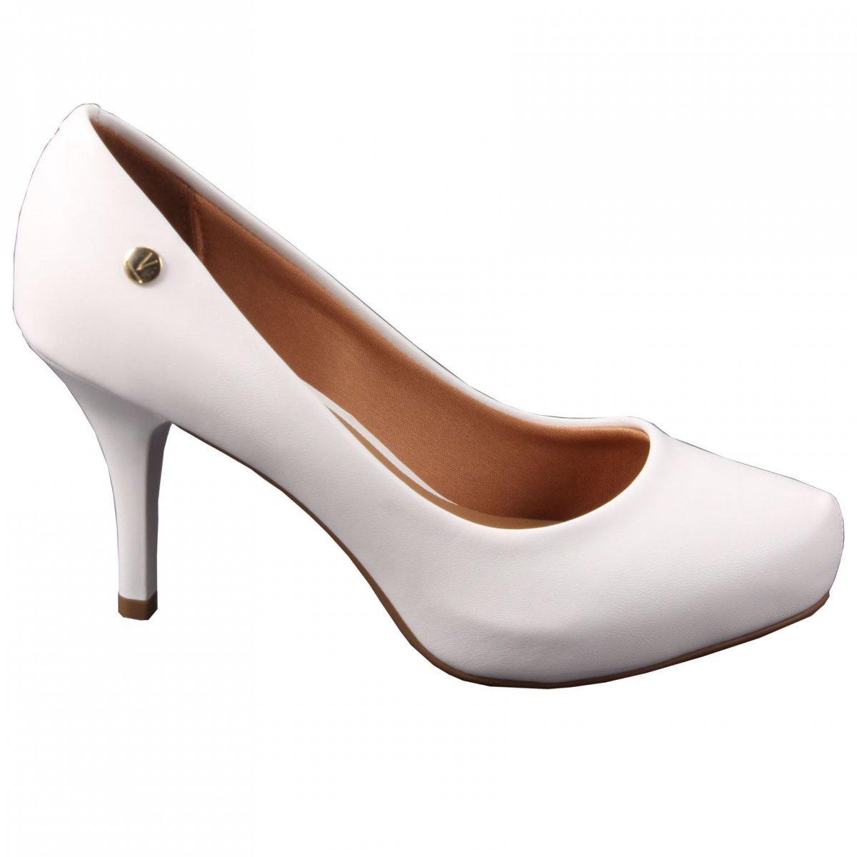 d50c42589 Sapato Feminino Scarpin Pelica Branco Salto Vizzano 1781421 1781421 ...