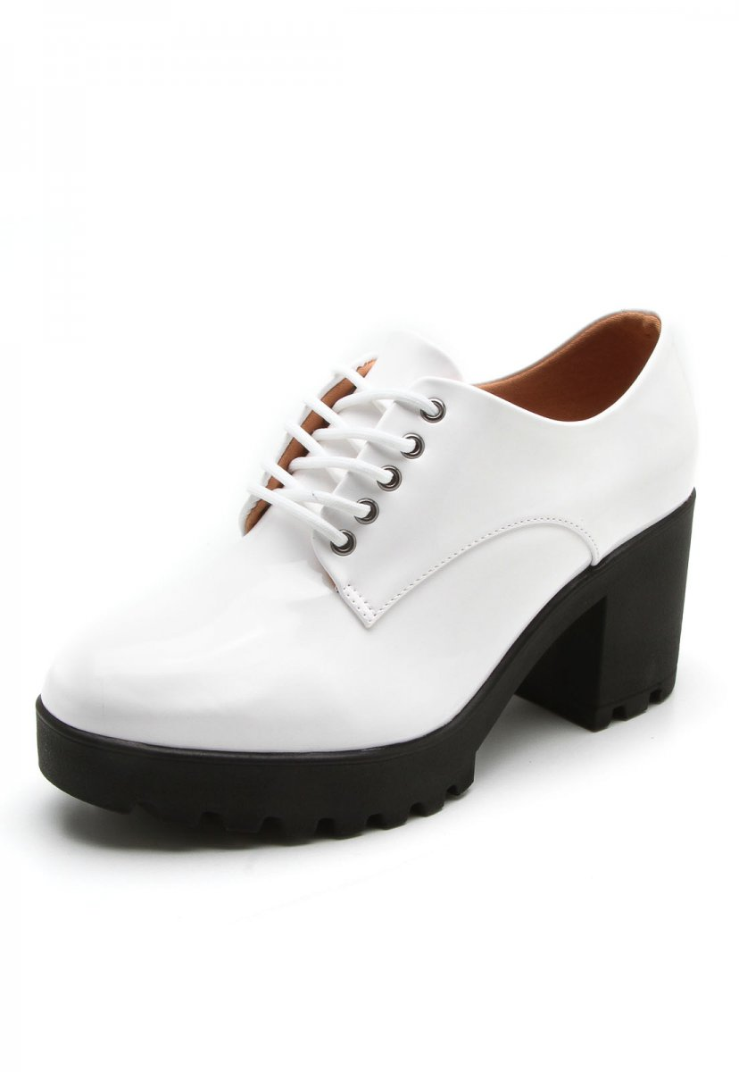 a536834155 Sapato Feminino Vizzano Oxford Tratorado Verniz 1294100 1294100 ...
