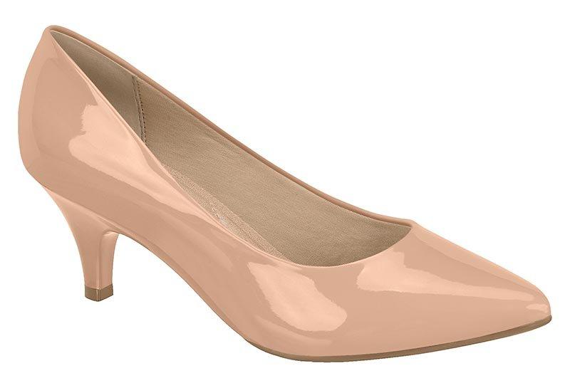 63d7efc1c5 Sapato Scarpin Feminino Beira Rio Salto Baixo 4076150 Nude 4076150 ...