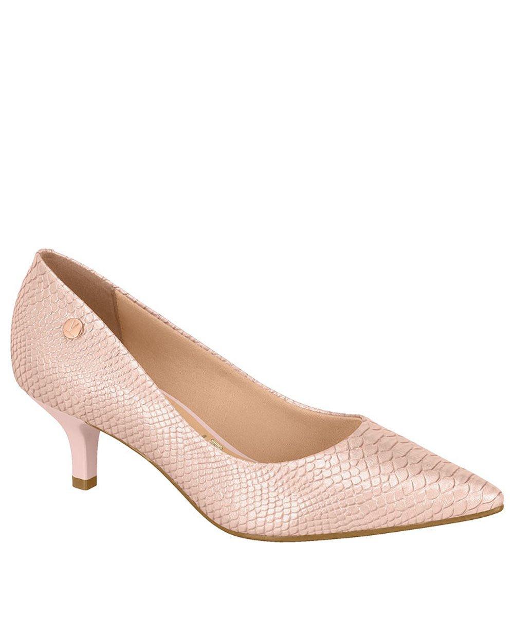 a1caa99de7 Sapato Scarpin Feminino Vizzano Bico Fino Cobra Rosa 1122628 1122628 ...