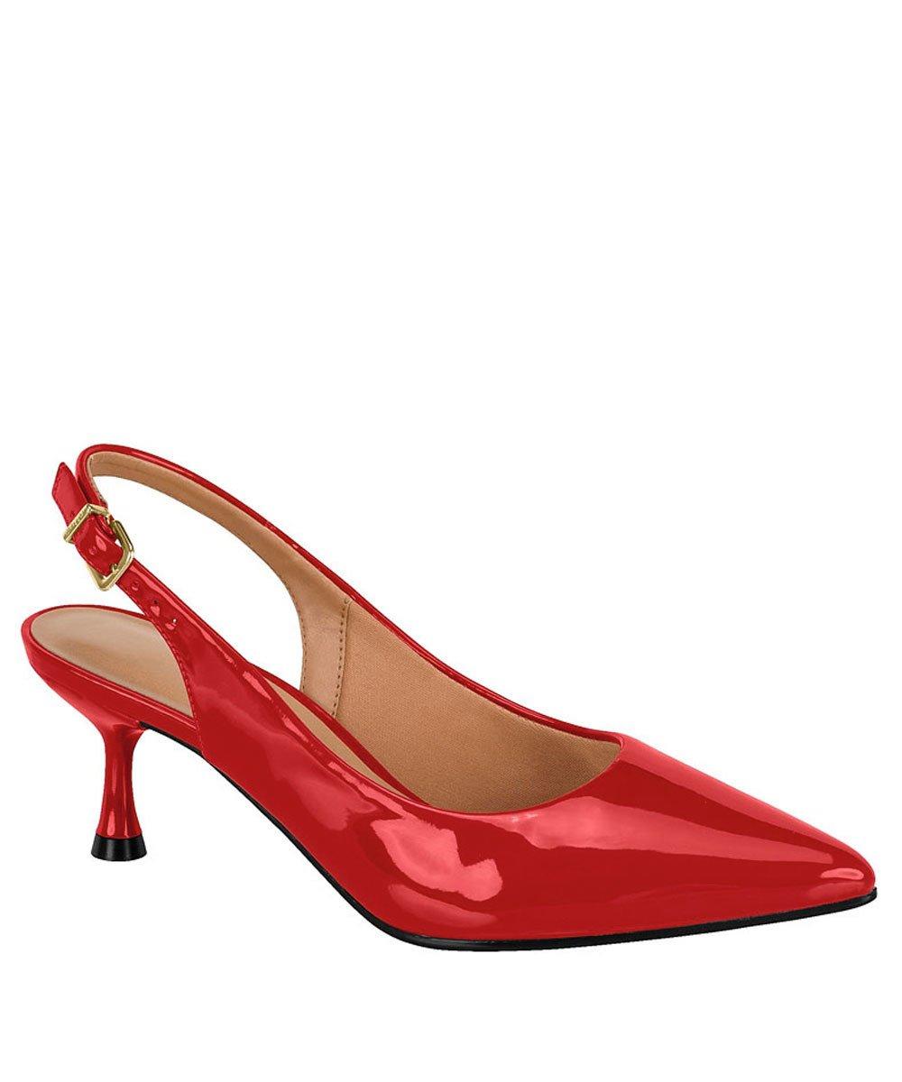 b9454a6ee0 Sapato Scarpin Feminino Vizzano Bico Fino Salto Baixo1283104 1283104 ...