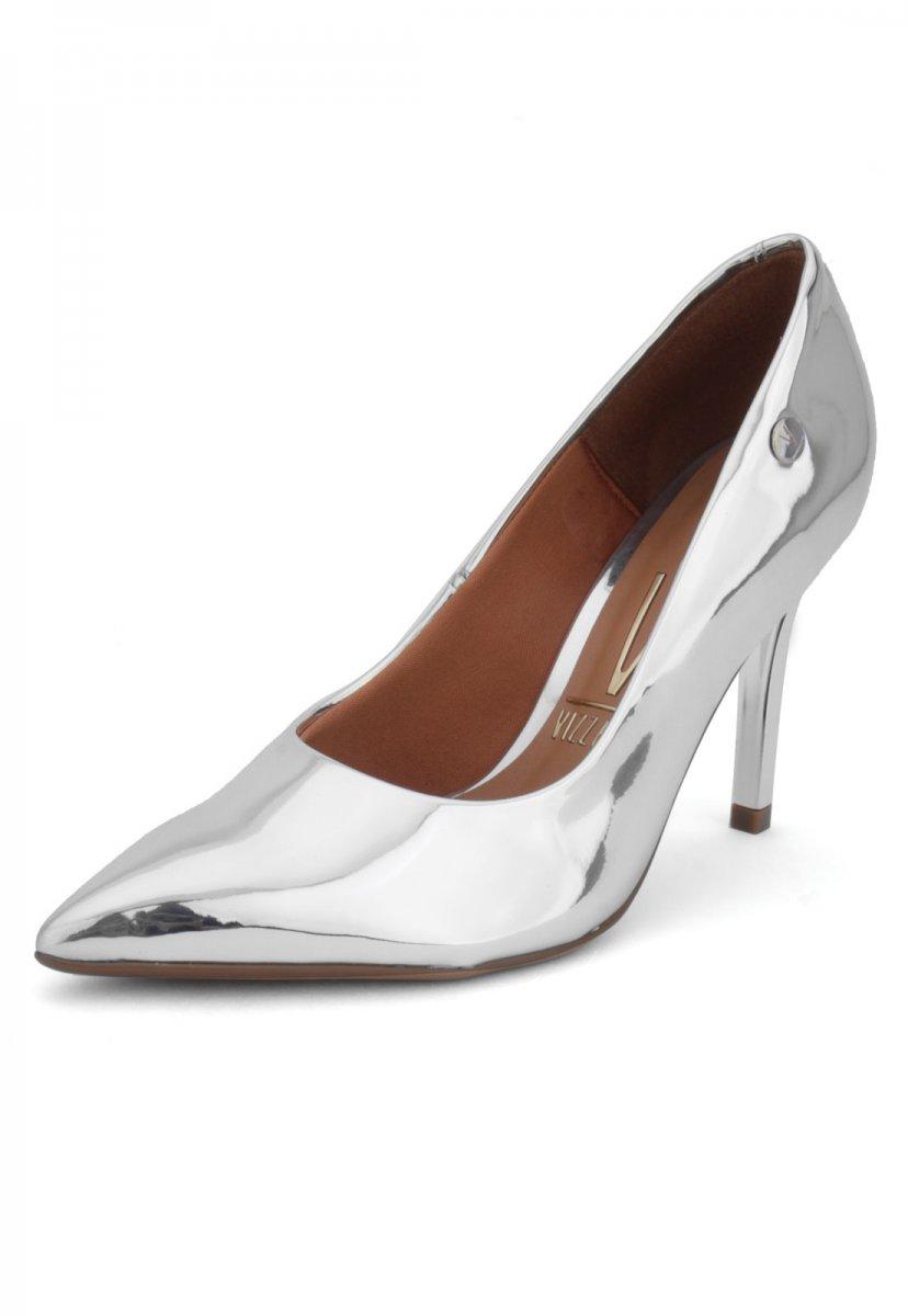 af75debb7 Sapato Scarpin Feminino Vizzano Metalizado Prata 1230300 1230300 ...