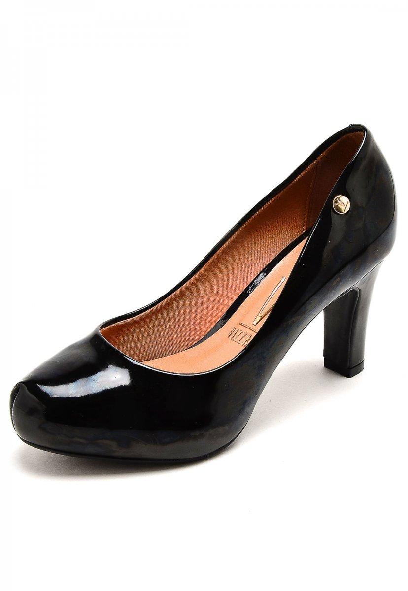 47accd5273 Sapato Scarpin Feminino Vizzano Salto Grosso Preto 1840101 1840101 ...