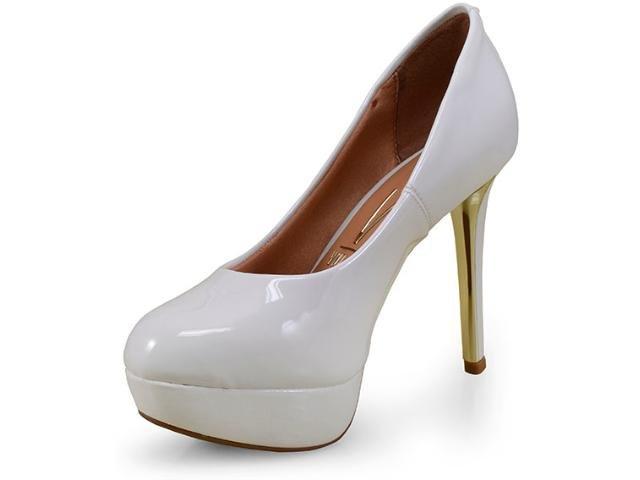 e6b8f31bf2 Sapato Scarpin Meia Pata Branco Vizzano 1255100 1255100 - Branco ...