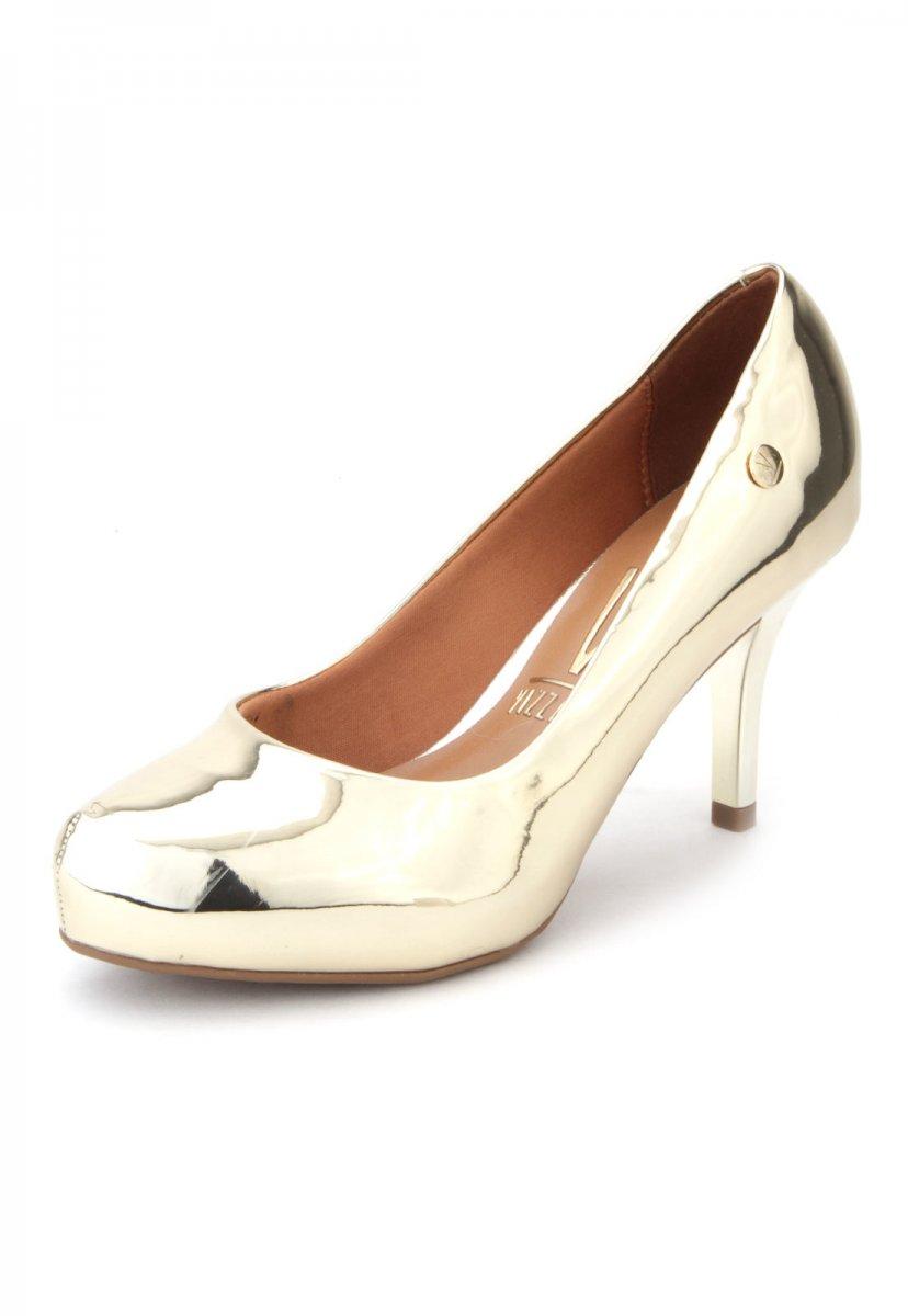 2d7cb7c113 Sapato Scarpin Metalizado Vizzano Dourado 1781621 1781621 - Ouro ...