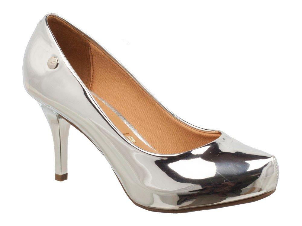 62a8e2fd7 Sapato Scarpin Metalizado Vizzano Prata 1781621 1781621 - Prata ...