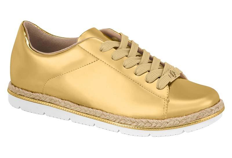 2a6edec335d Tênis Casual Feminino Vizzano Metal Glamour Dourado 1212207 1212207 ...