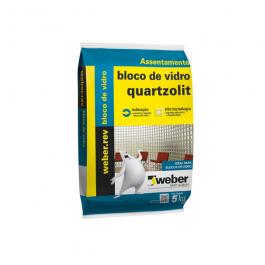 Imagem - Argamassa Bloco de Vidro Branco 5kg - Quartzolit cód: 264