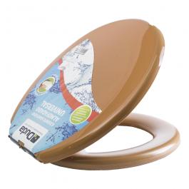 Imagem - Assento Sanitario Almofadado Universal Caramelo - Duda cód: 114056