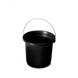 Imagem - Balde Plástico Com Graduação 8l Preto Ref 160lp - Plasvale cód: 600