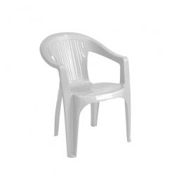 Imagem - Cadeira Poltrona de Plástico Ana Bela Branca Com Braço - Plastmaster cód: 115498