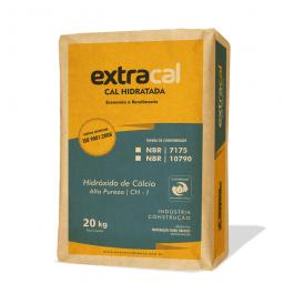 Imagem - Cal Hidratada Para Argamassa Ch-i 20kg Extracal Ref Prd00003 - Ouro Branco cód: 129328