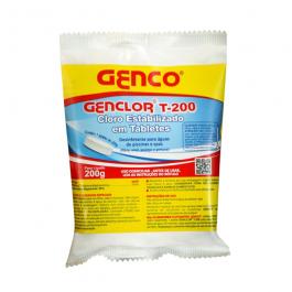 Imagem - Cloro Tablete Estabilizado T-200 200g - Genco cód: 127465