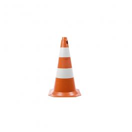 Imagem - Cone de Sinalização 50 cm Laranja e Branco Ref 3400 - Ledan cód: 122708