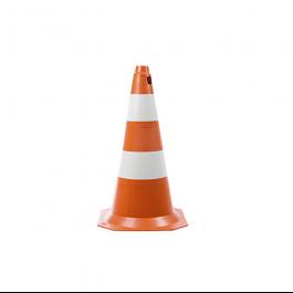 Imagem - Cone de Sinalização 75 cm Laranja e Branco Ref 3405 - Ledan cód: 122709