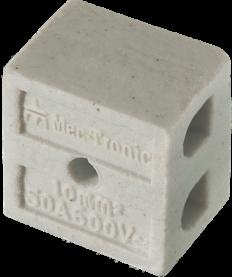 Imagem - Conector em Porcelana 10mm 2p 50a Ref 30216 - Mec Tronic cód: 128207