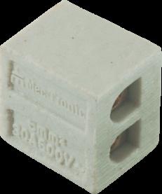 Imagem - Conector em Porcelana 6mm 2p 30a Ref 30213 - Mec Tronic cód: 128206
